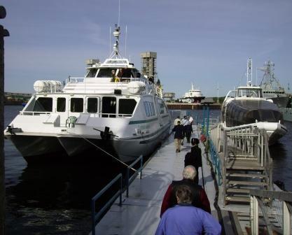 Boarding Catamaran