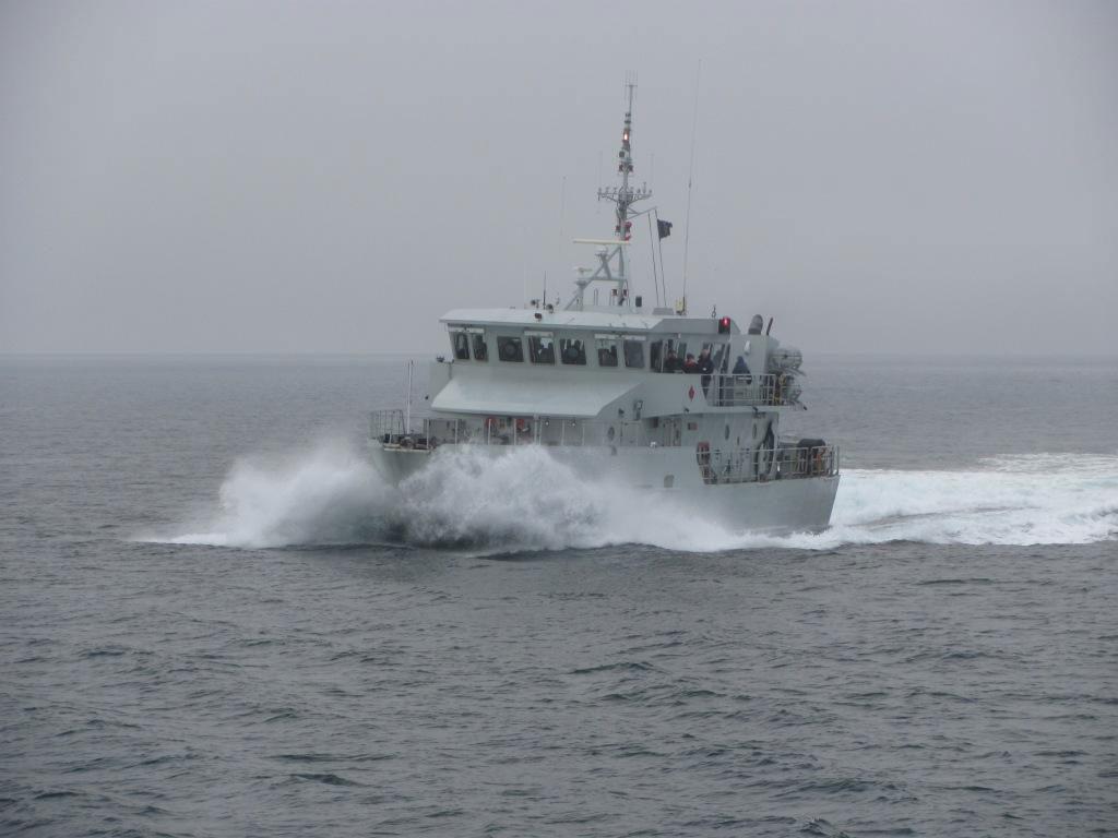 HMCS Renaud Plows through