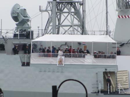 The Royal Party aboard HMCS St. John's