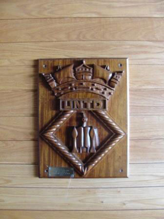 Jim Boutillier carved and donated this crest
