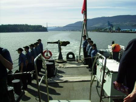 Paying our respects to HMCS Discovery