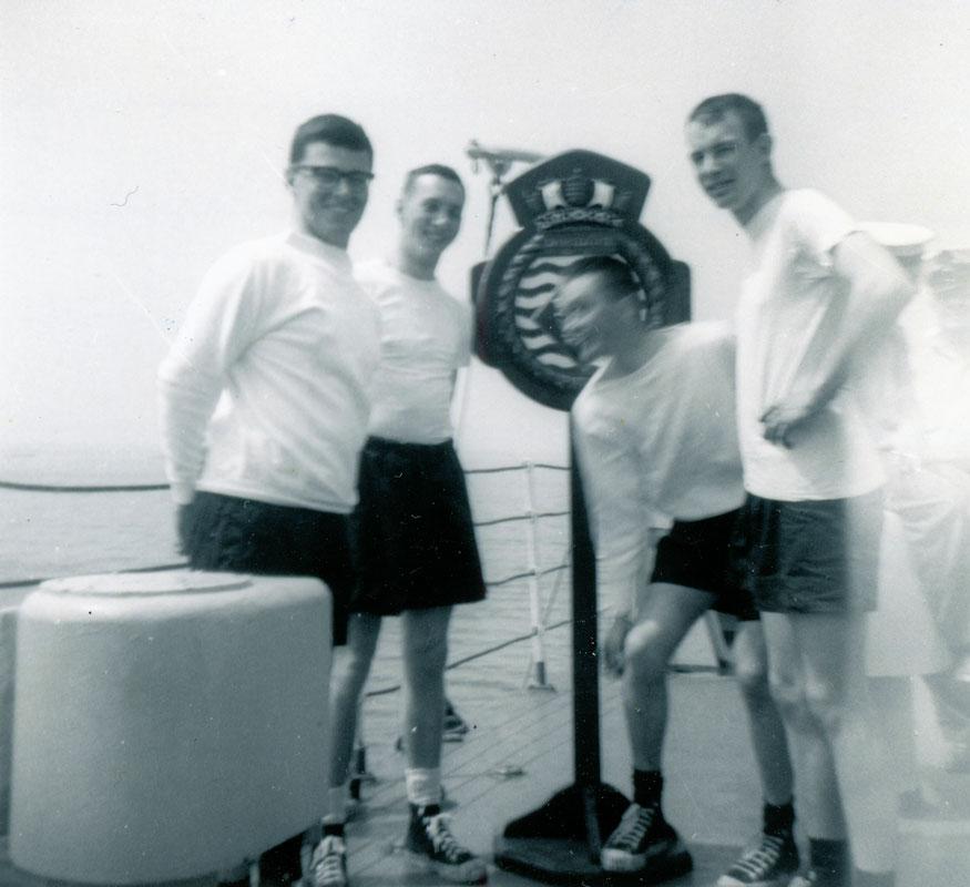 Cock of the Walk celebration, Haida Division on La Hulloise, Regatta, Portland, Thursday 28 May, 1964.