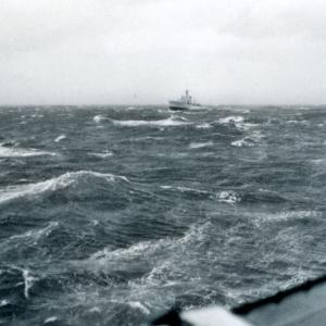 HMCS Lanark lagging – June, 1964.
